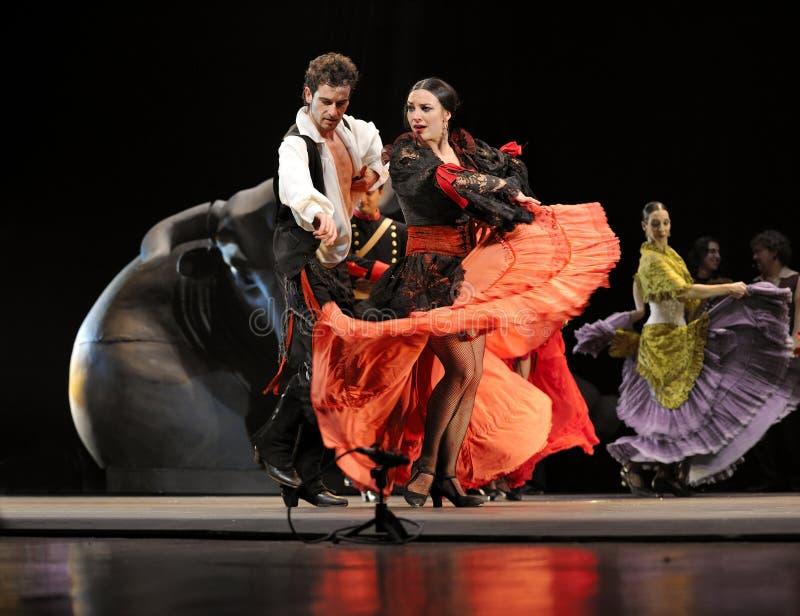 najlepszi carmen tanczą dramata flamenco fotografia stock