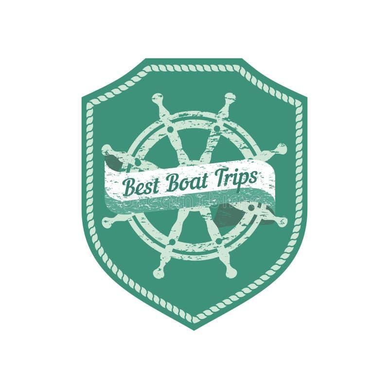 Najlepszy łodzi wycieczki ilustracja wektor
