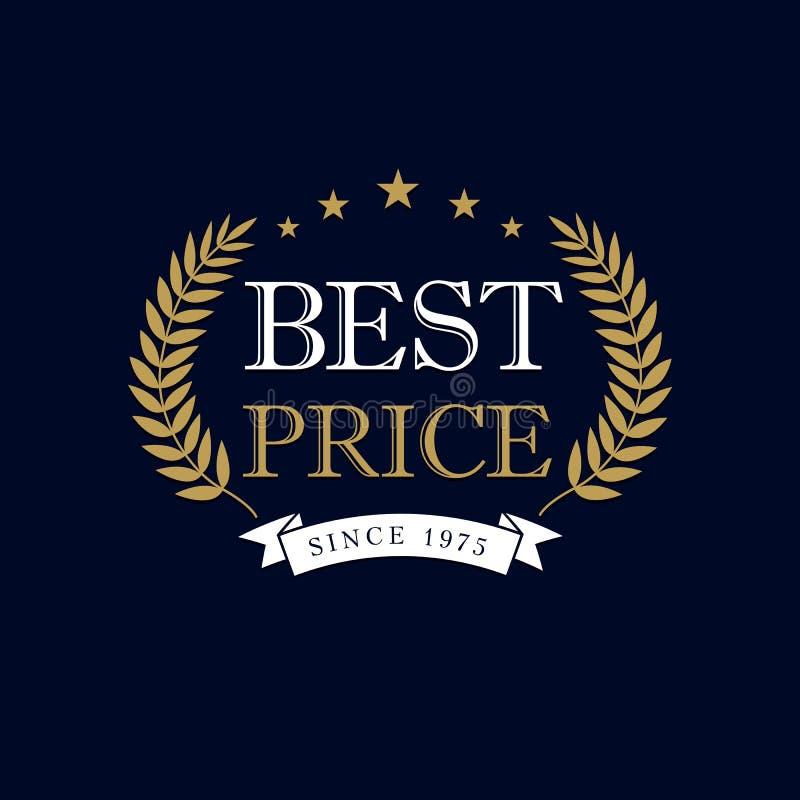 Najlepszy cena logo ilustracja wektor