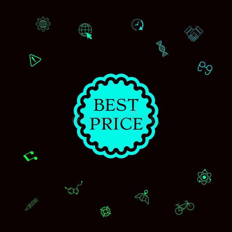 Najlepszy ceny etykietki ikona royalty ilustracja