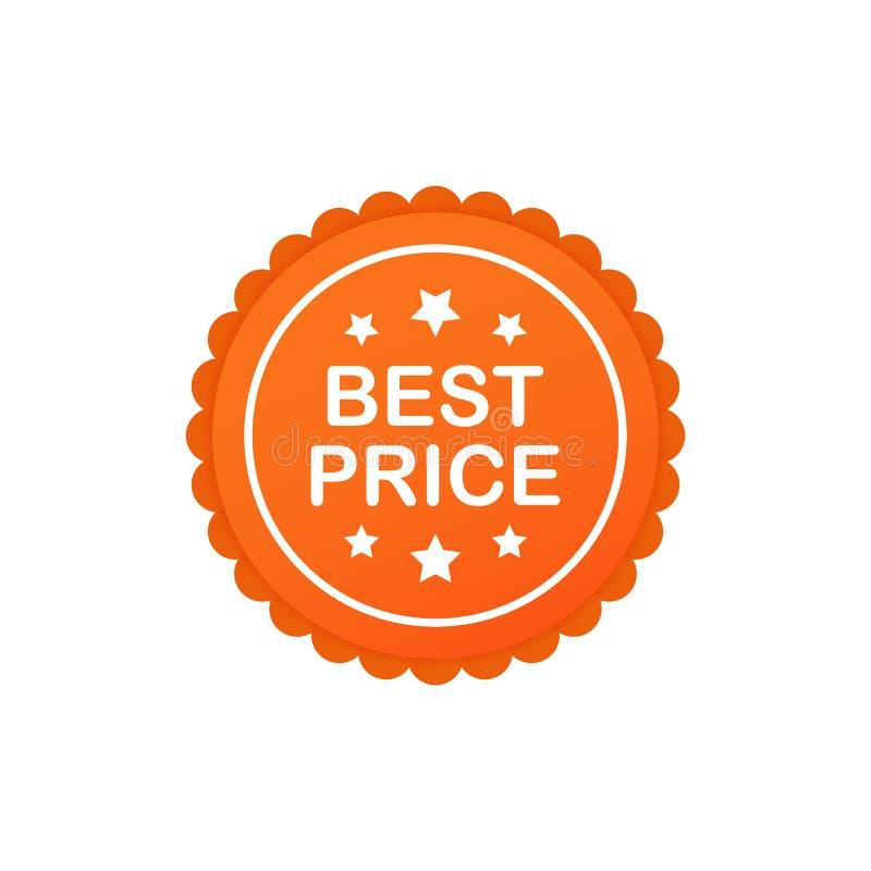 Najlepszy ceny gwaranci etykietki ikona Ceny najlepsza etykietka r?wnie? zwr?ci? corel ilustracji wektora ilustracji