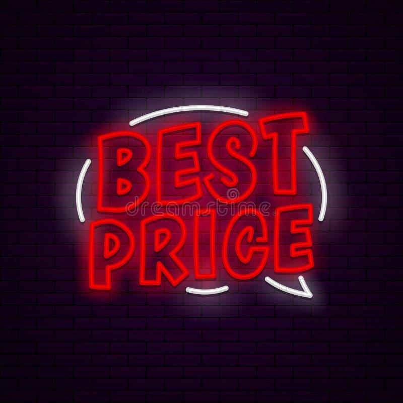 Najlepszy ceny neonowy sztandar ilustracji