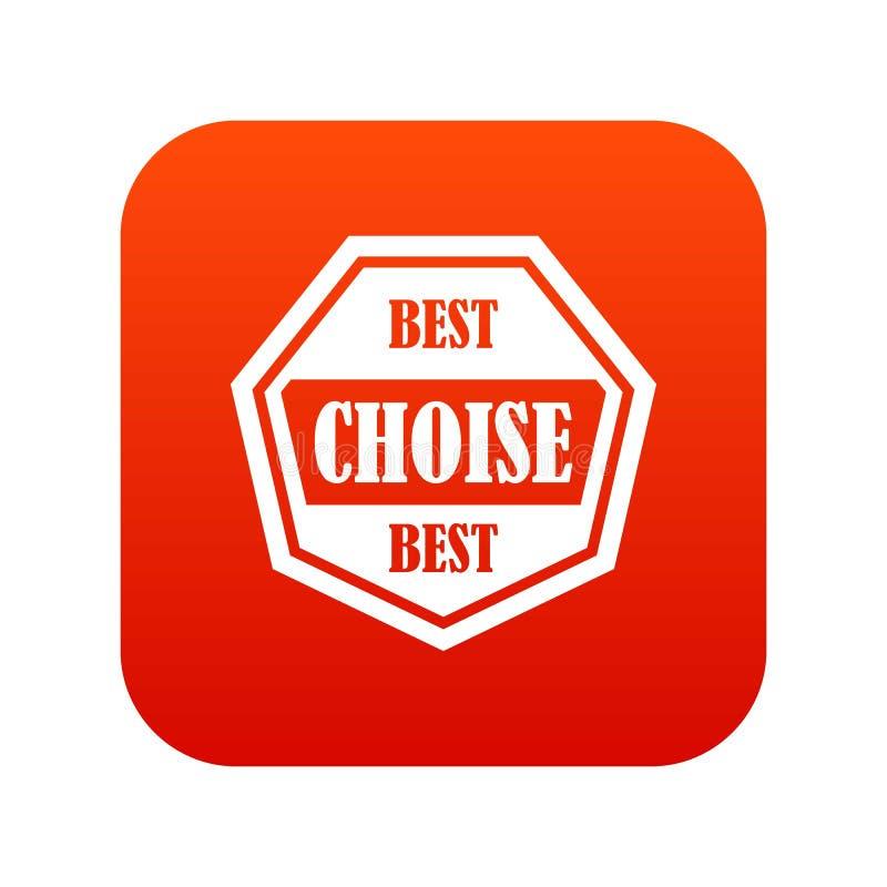 Najlepszy choise etykietki ikony cyfrowa czerwień ilustracji