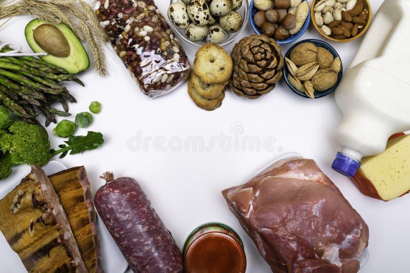 Najlepszy Foods Wysocy w proteinie Zdrowy łasowania i diety pojęcie obrazy royalty free