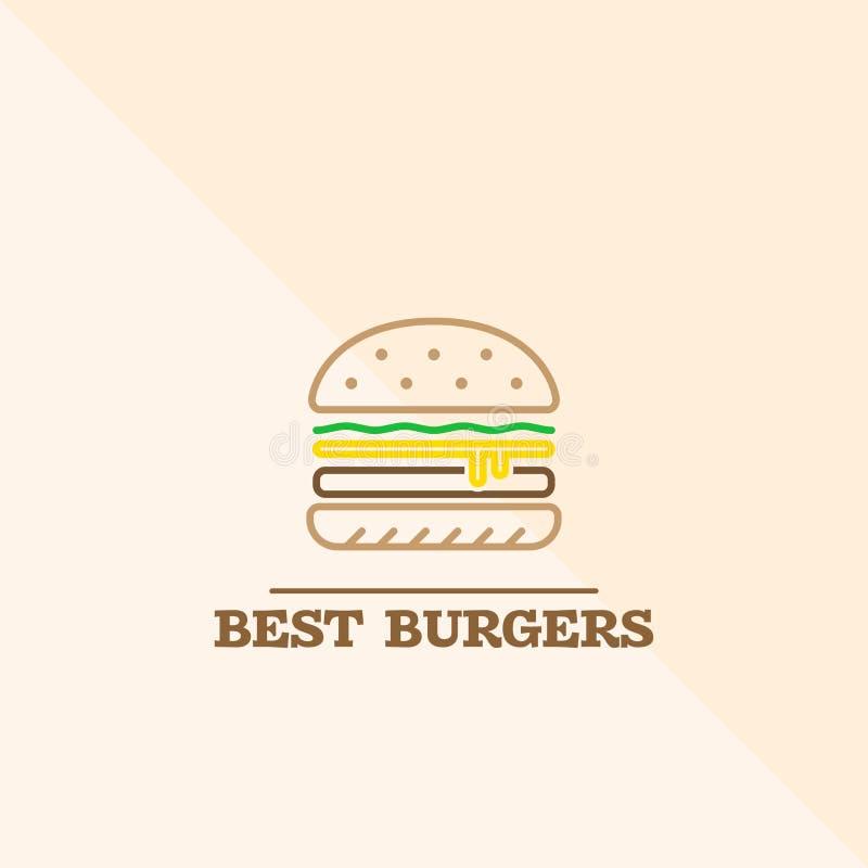 Najlepszy hamburger ikona royalty ilustracja