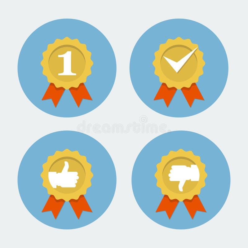 Najlepszy ilości ikona - gwaranci foka royalty ilustracja