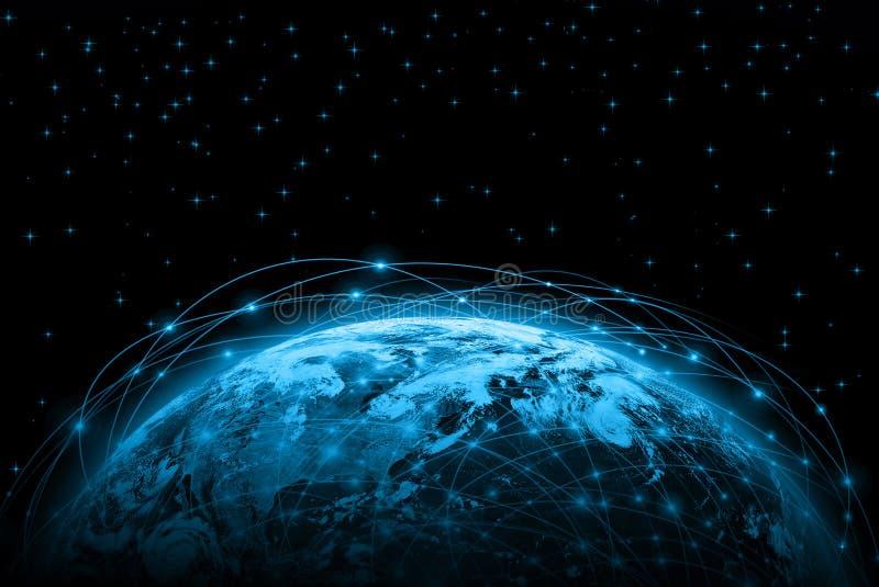 Najlepszy Internetowy pojęcie globalny biznes od royalty ilustracja