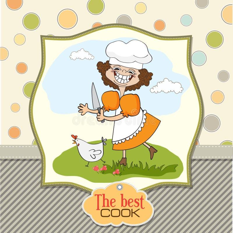 najlepszy kucharz ilustracji
