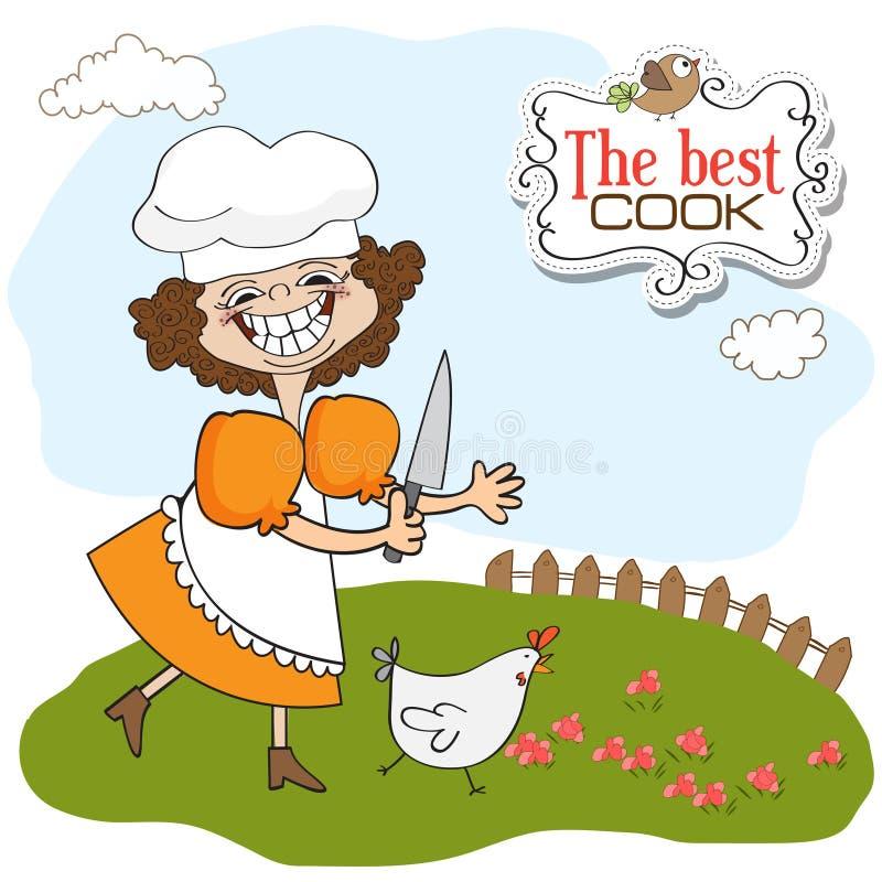 najlepszy kucharz royalty ilustracja