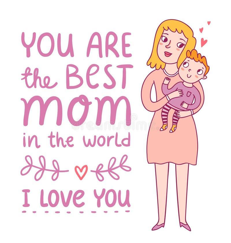 Najlepszy mama ilustracji