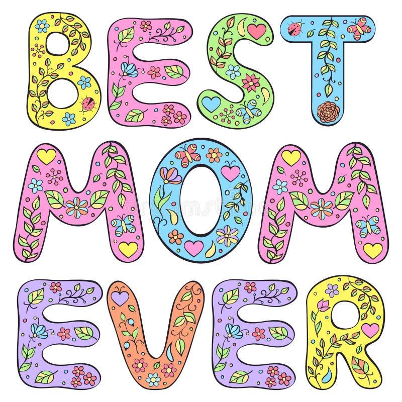 Najlepszy mama Kiedykolwiek royalty ilustracja