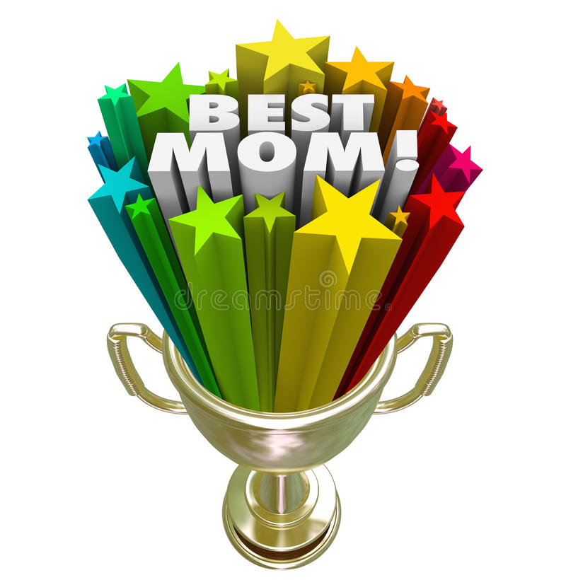 Najlepszy mamy trofeum nagrody Nagrodzonych światów Wielka matka ilustracja wektor