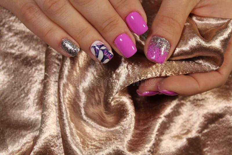 najlepszy menchia manicure zdjęcia stock