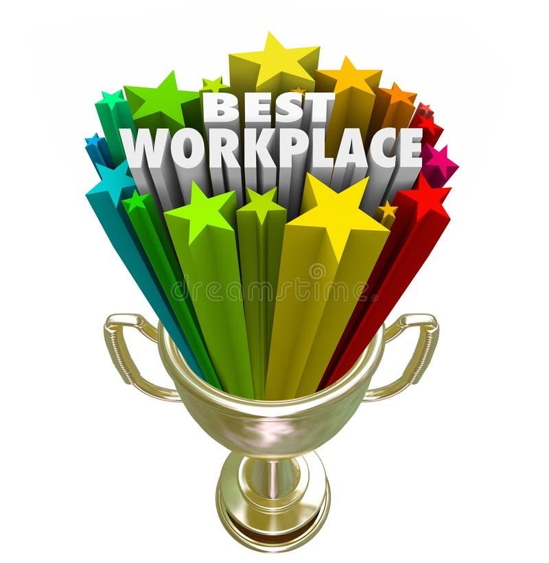 Najlepszy Miejsce pracy Pracodawca Biznes Firma kariery Akcydensowy trofeum ilustracji