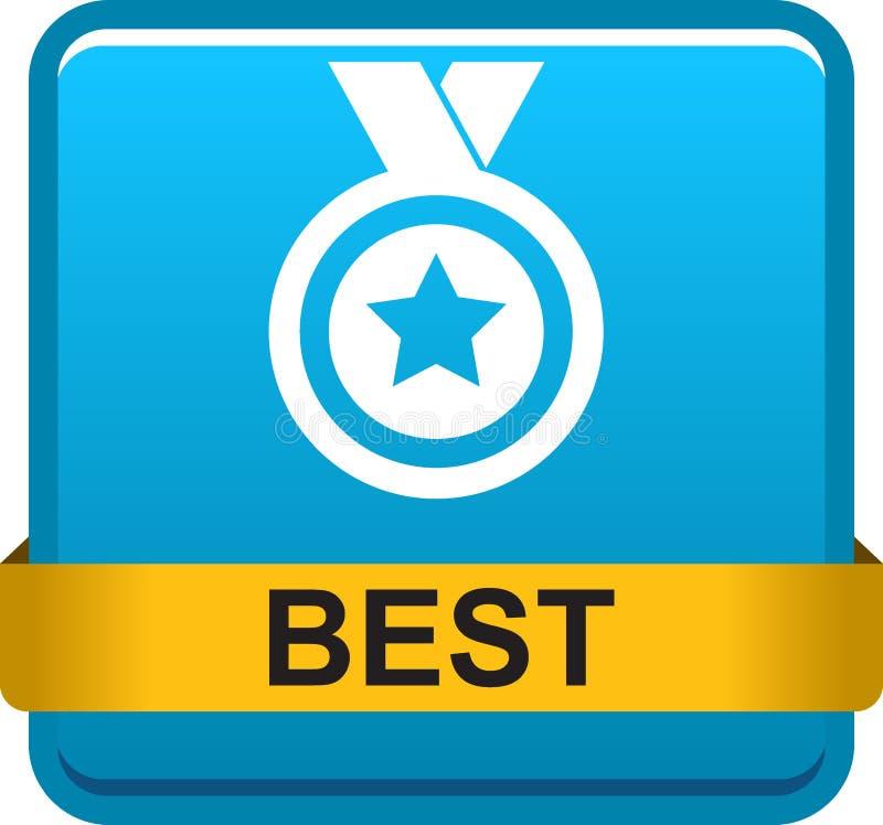 Najlepszy nagroda medal ilustracja wektor