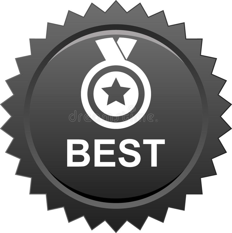 Najlepszy nagroda medal royalty ilustracja