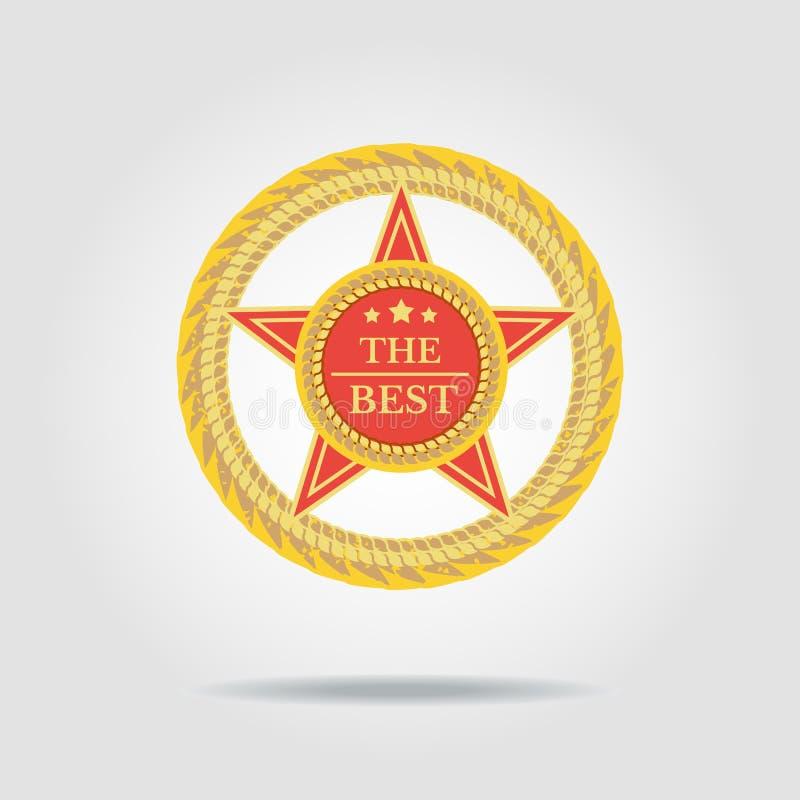 Najlepszy odznaka ilustracja wektor