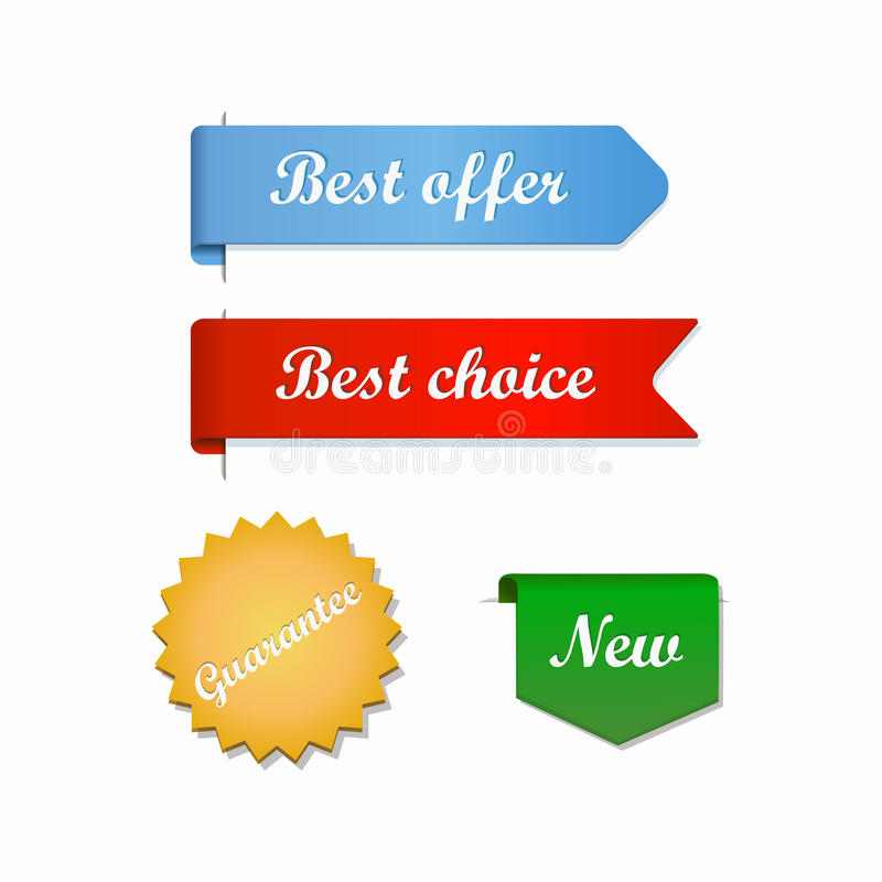 Najlepszy oferta wyboru faborki ilustracja wektor