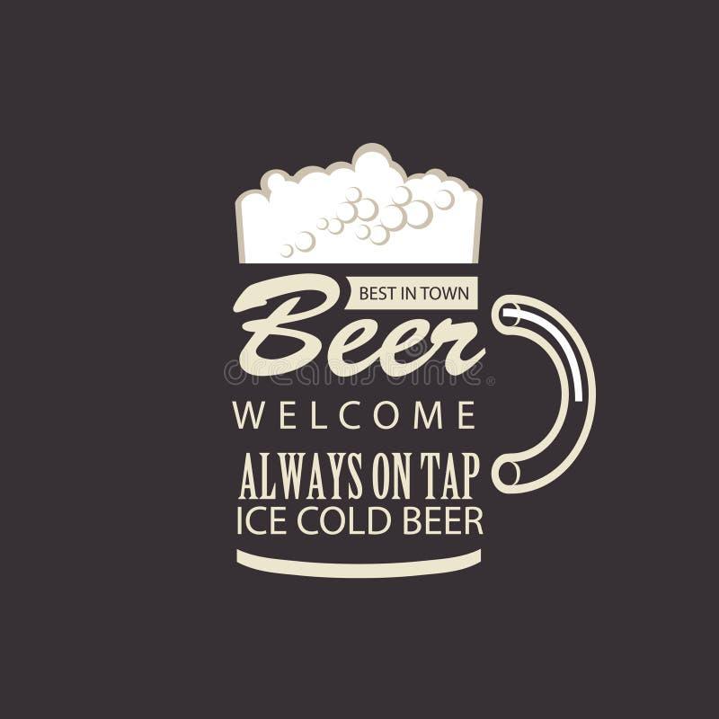 Najlepszy piwo w miasteczku ilustracji