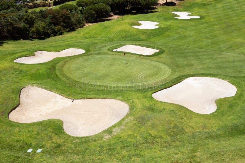Najlepszy pola golfowe w parku dla turystów Portugalia obraz stock