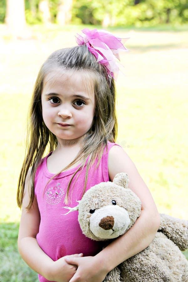 najlepszy przyjaciel jej mała dziewczyna zdjęcie stock