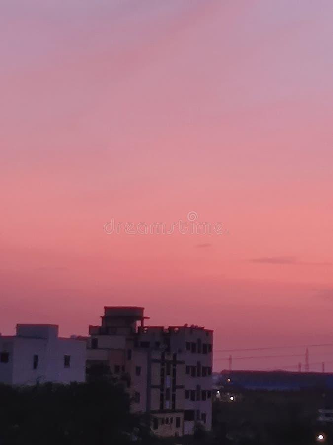 Najlepszy romantyczny niebo ma różowawego colour obrazy stock