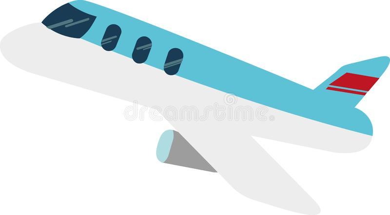 Najlepszy samolotowy wektor w świacie na Białym Blackground ilustracja wektor