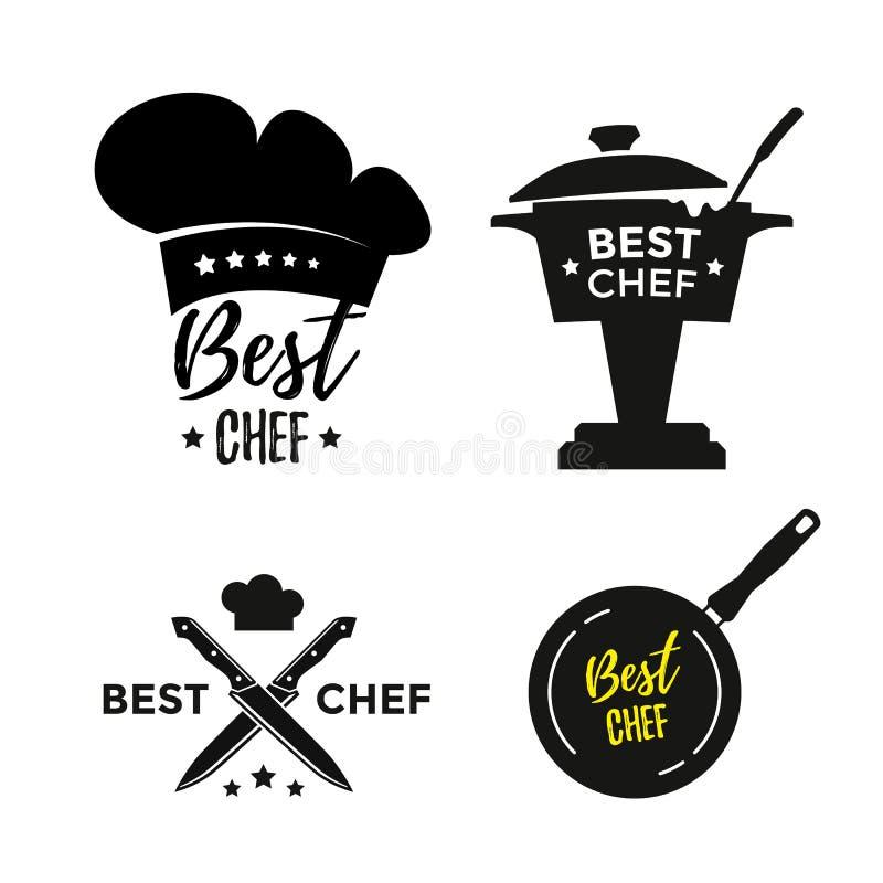 Najlepszy szef kuchni ikony royalty ilustracja