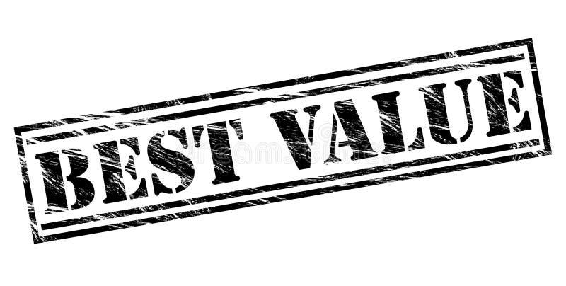 Najlepszy wartości czerni znaczek ilustracja wektor