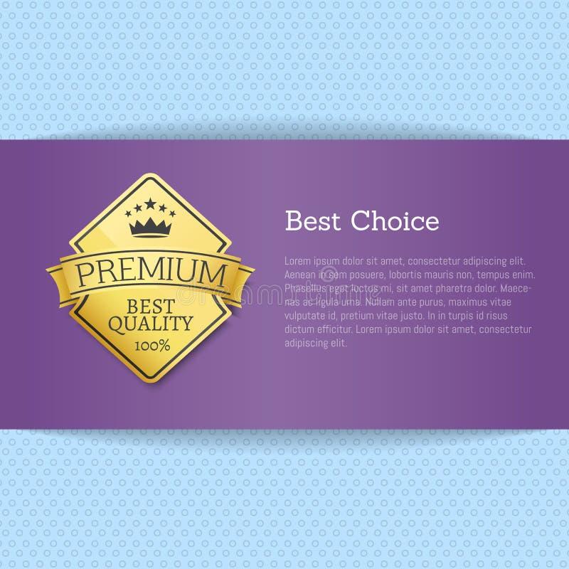 Najlepszy Wyborowy broszurka projekta miejsce dla tekst etykietki ilustracja wektor