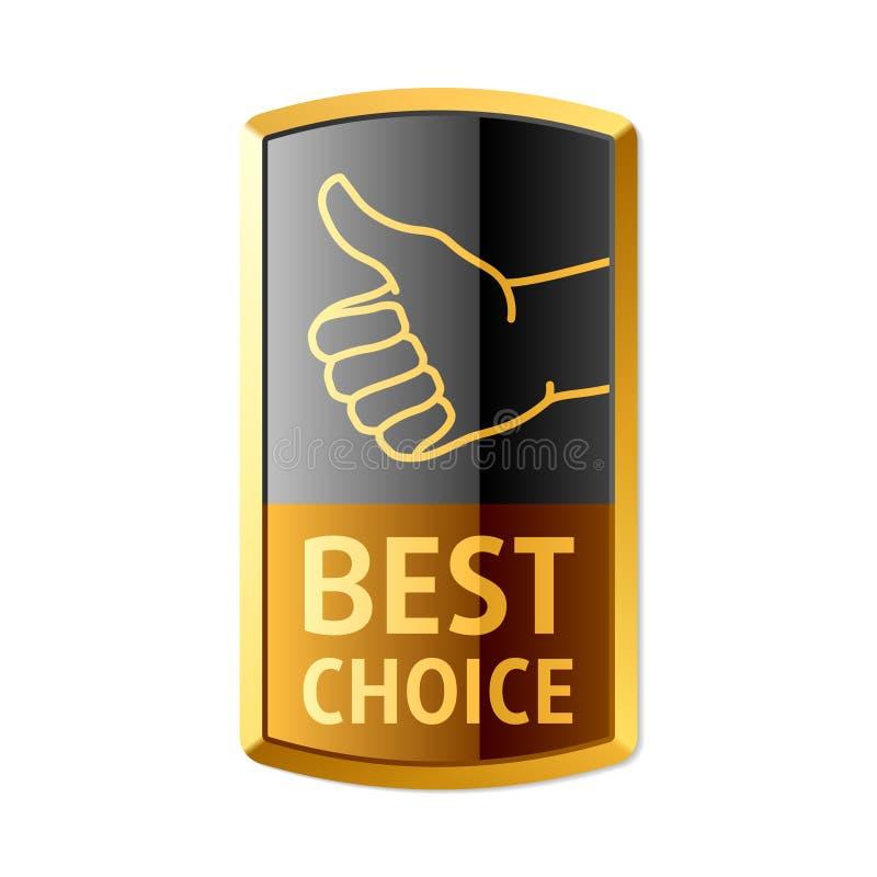najlepszy wyborowy emblemat ilustracja wektor