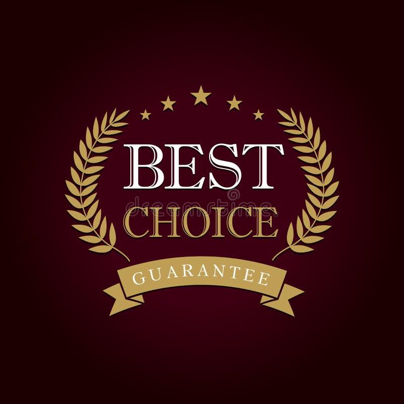 Najlepszy wyborowy logo ilustracji