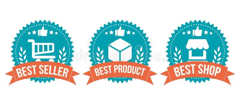 Najlepszy Wyborowy odznaka zakupy elementu set ilustracji