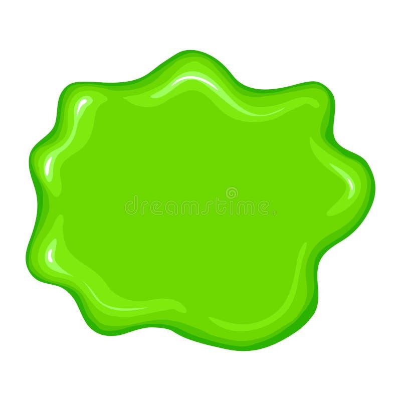 Najlepszy zieleni szlamowy znak ilustracja wektor
