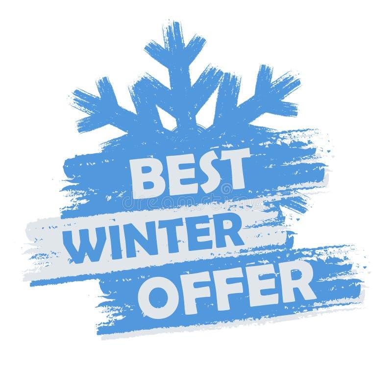Najlepszy zimy oferta ilustracja wektor