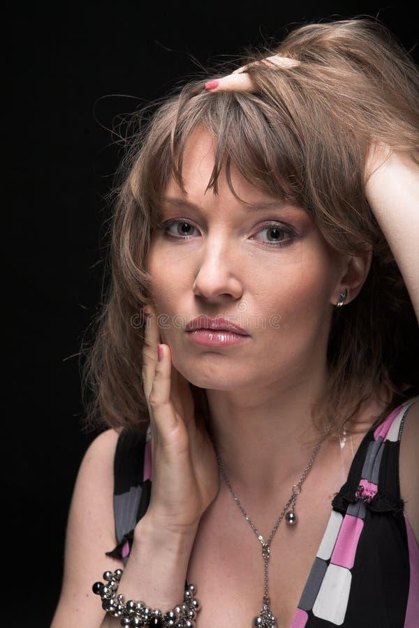 najpiękniejszy portret kobiety seksowni young fotografia stock