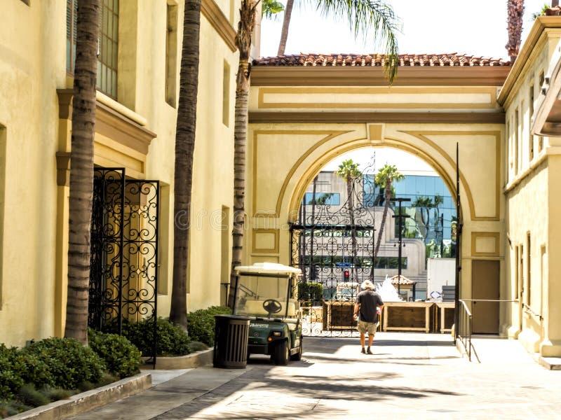 Najważniejsza studio obrazków Inside bramy Hollywood wycieczka turysyczna na 14th Sierpień, 2017 - Los Angeles, los angeles, Kali obrazy stock