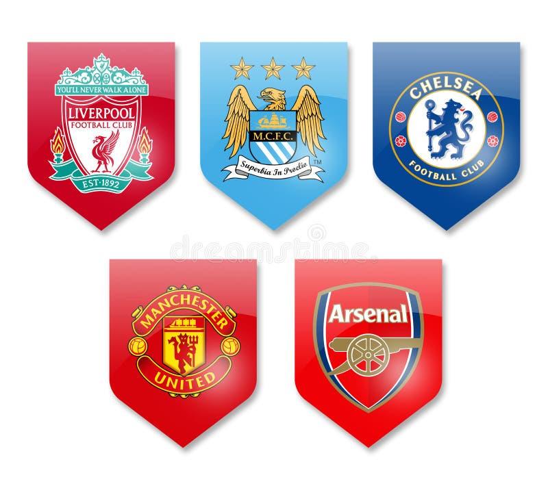Najważniejszego liga kluby ilustracji