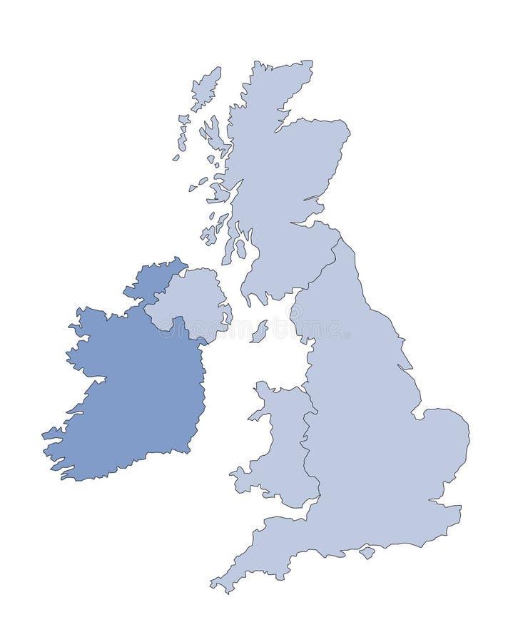 najważniejszym brytanii mapa ilustracja wektor