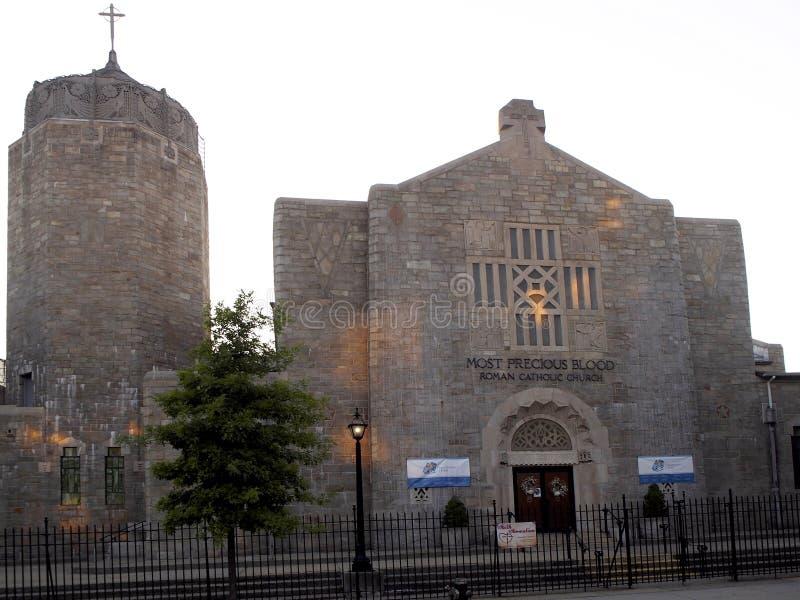 Najwięcej Cennego Krwionośnego kościół w Astoria zdjęcia stock