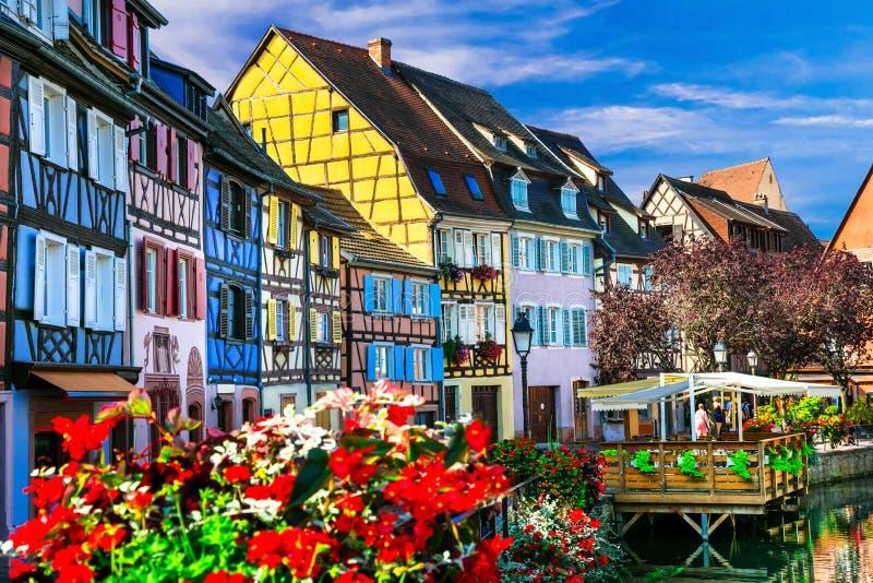 Najwięcej pięknego x28 & wioski; town& x29; francja, Colmar w Alsace - fotografia royalty free