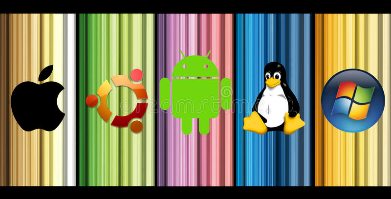 Najwięcej popularnych system operacyjny ilustracja wektor