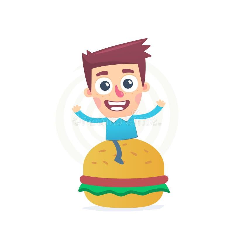 Najwięcej wyśmienicie hamburgeru ilustracji