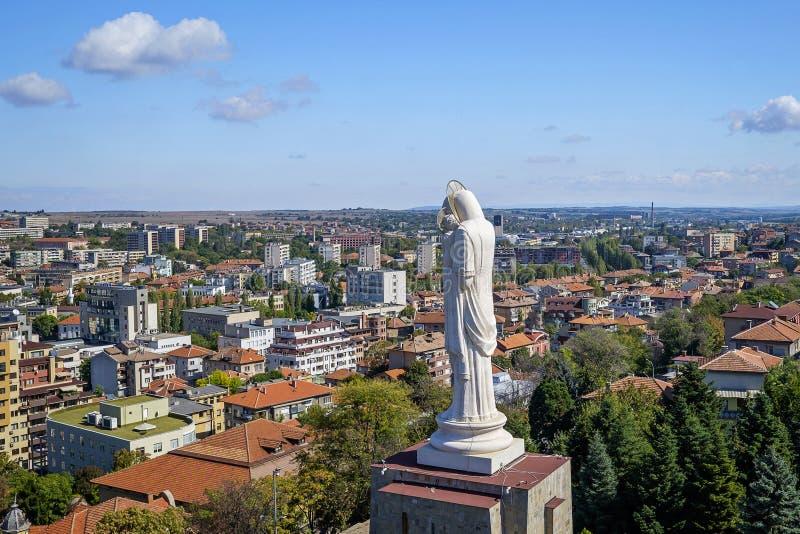 Największy pomnik Matki Bożej w Bułgarii Panorama 3 obraz royalty free