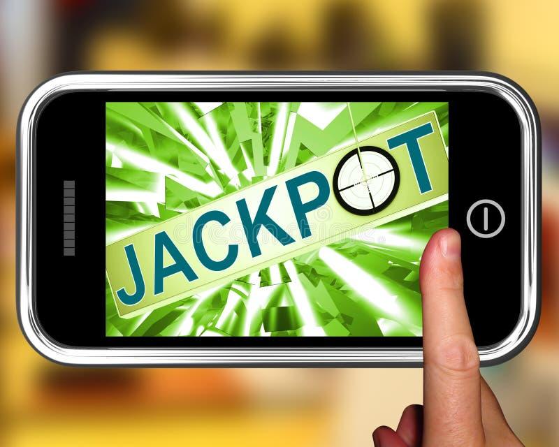 Najwyższa wygrana Na Smartphone Pokazuje celu Uprawiać hazard royalty ilustracja