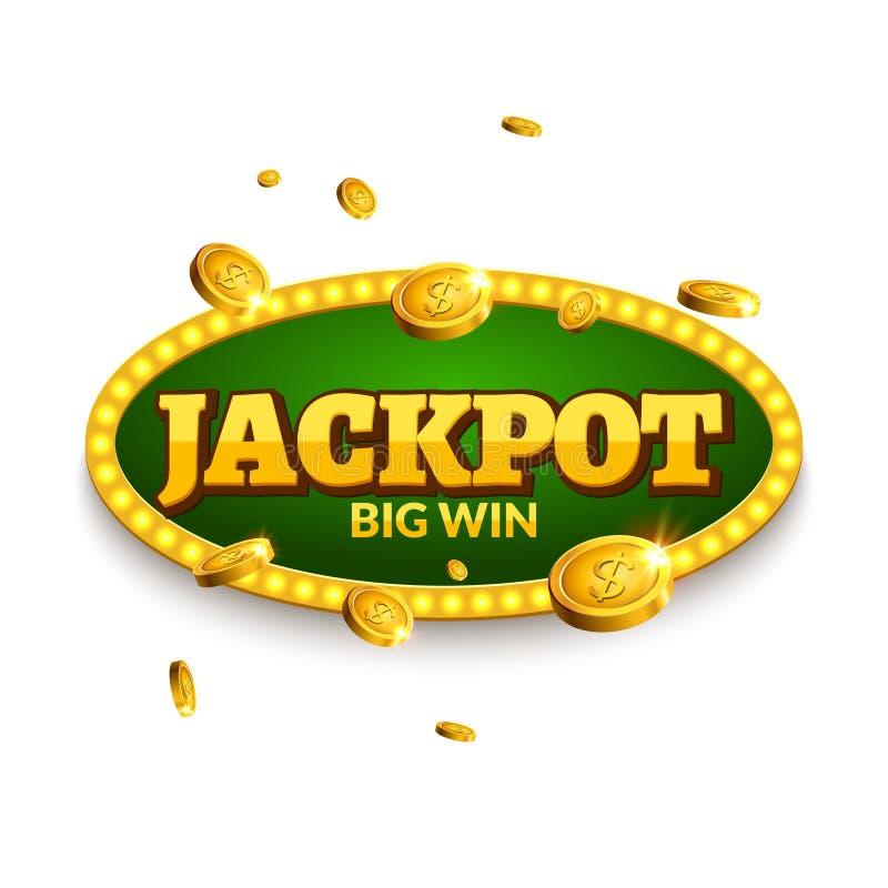 Najwyższa wygrana uprawia hazard retro sztandar dekorację Biznesowa najwyższej wygrany dekoracja Zwycięzcy symbolu szyldowy szczę ilustracja wektor