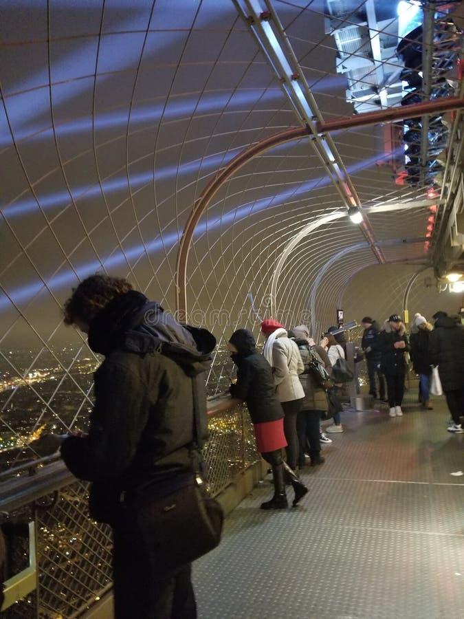 Najwyższe Piętro wieża eifla Paryż, Francja obrazy stock