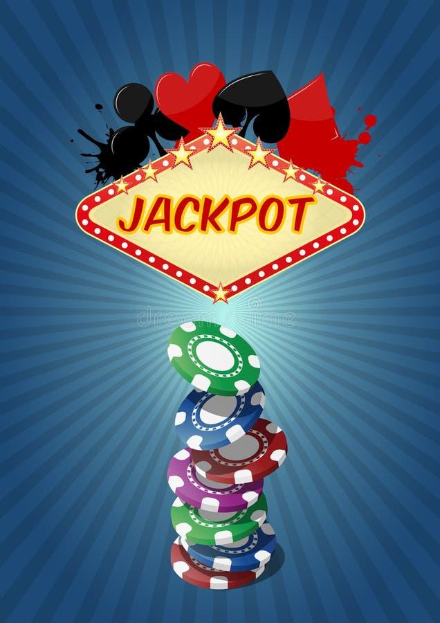 Najwyższej wygrany kasyno ilustracji