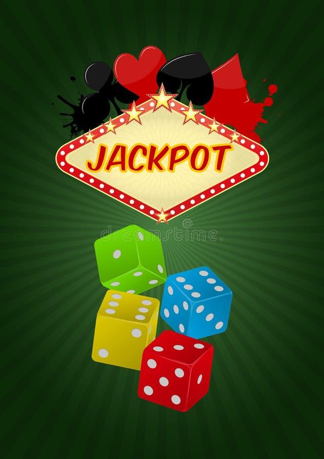 Najwyższej wygrany kasyno royalty ilustracja