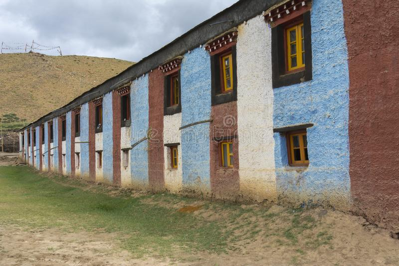Najwyższy w Indiach klasztor Komic,Spiti Valley,Himachal Pradesh,Indie obrazy royalty free
